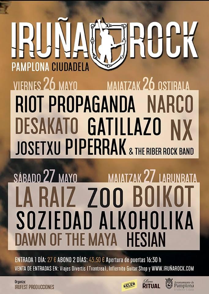 cartel Iruña rock