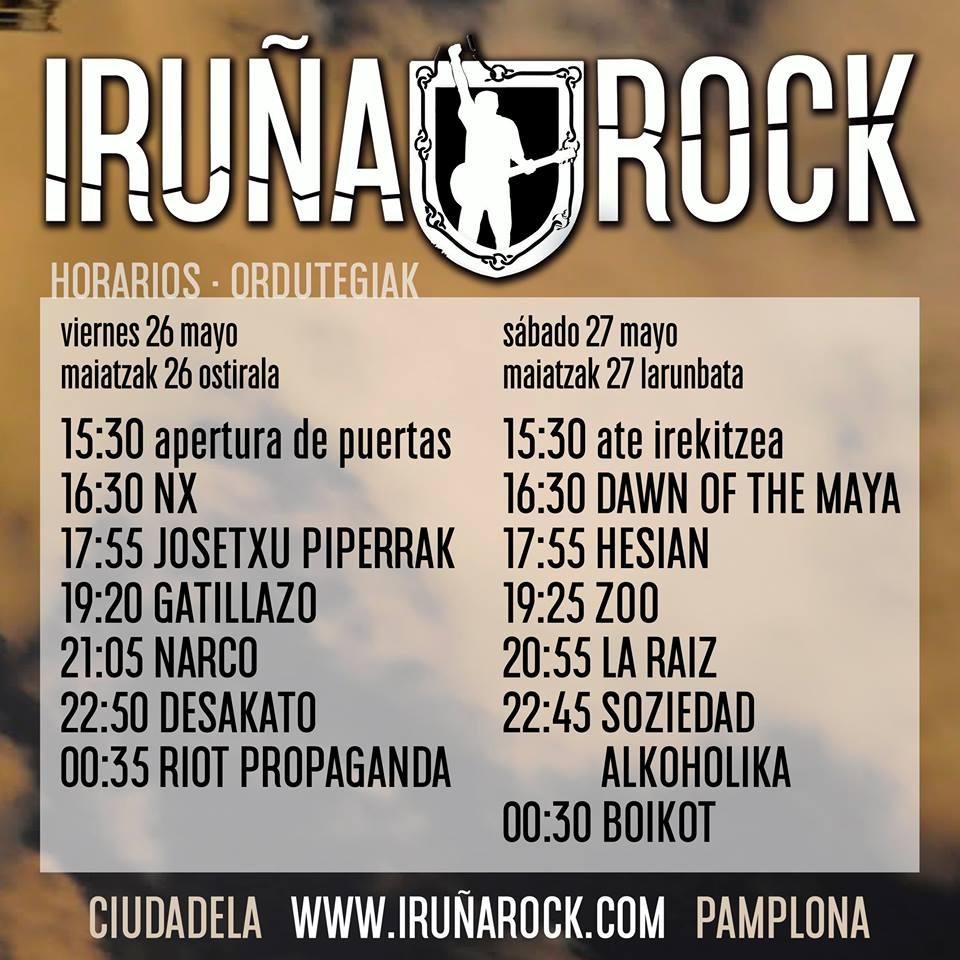 horarios IruñaRock