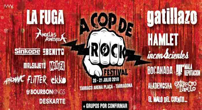 cartel a cop de rock 2018