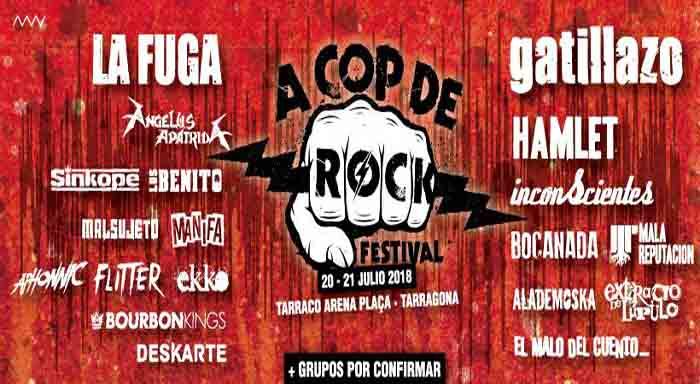 cartel a cop de rock 2018